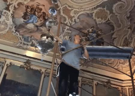 Ristrutturazione lampadario Murano | Palazzo Biscari